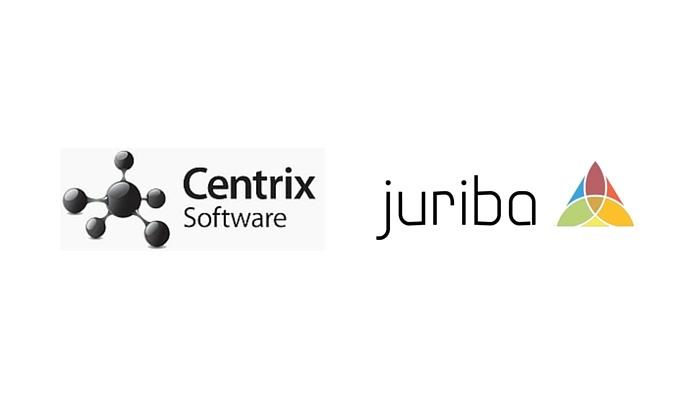 Centrix and Juriba logos