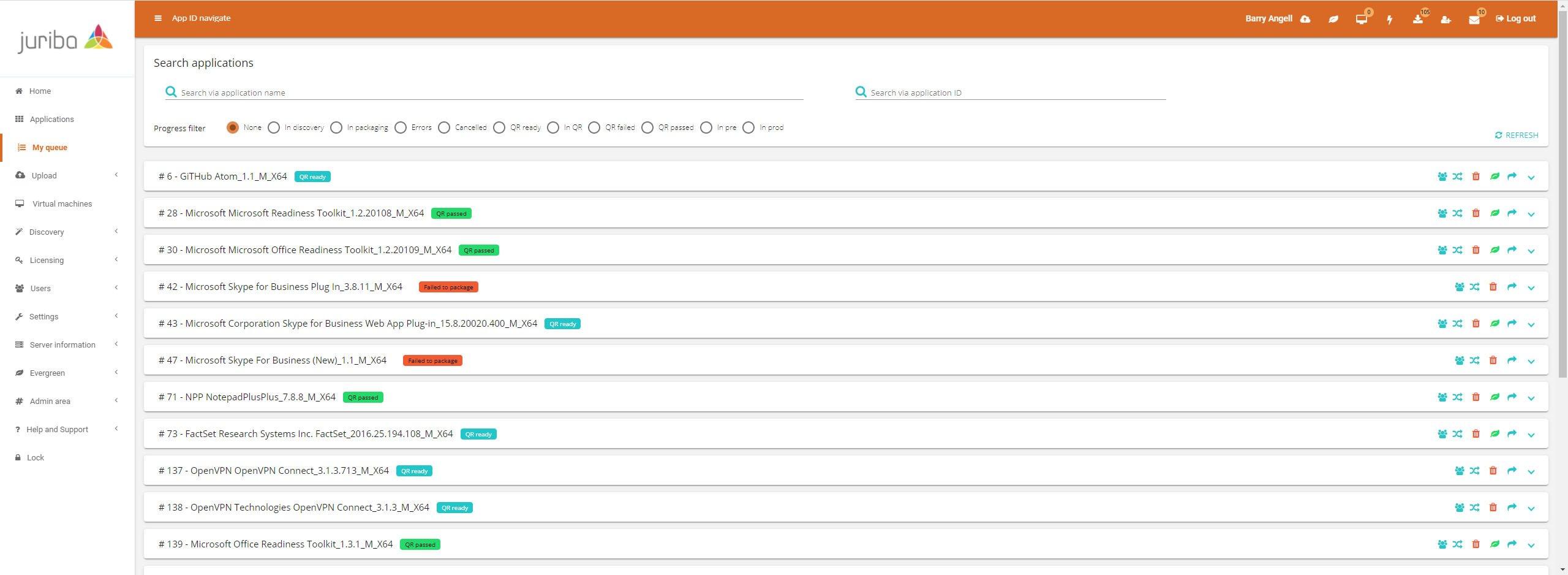 Dashworks Application Manager - Packaging Workflow Status (1)