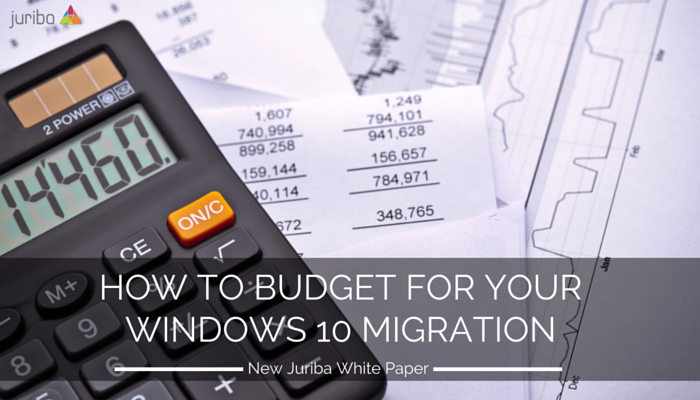 Windows 10 Migration Budget