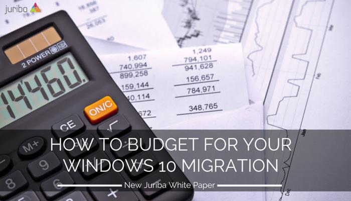 Windows 10 Migration Budget