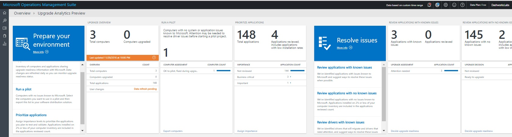 Upgrade Analytics - Readiness Dashboard-1
