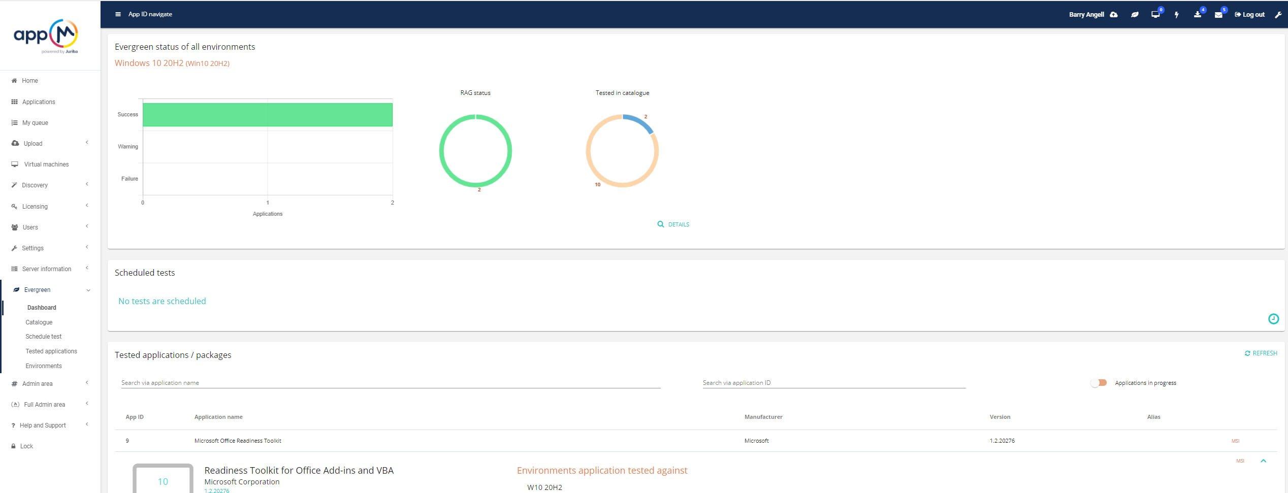 appM Tester (Testing Dashboard)